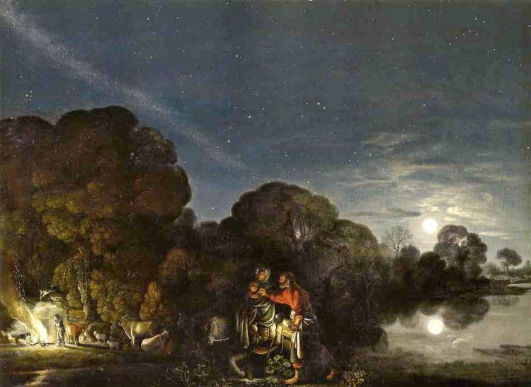 """The Flight into Egypt"" by Adam Elsheimer"