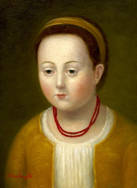 Girl with Coral Necklaces
