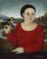 Lady with Finch ●