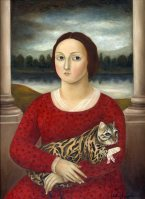 Woman with Injured Cat ●