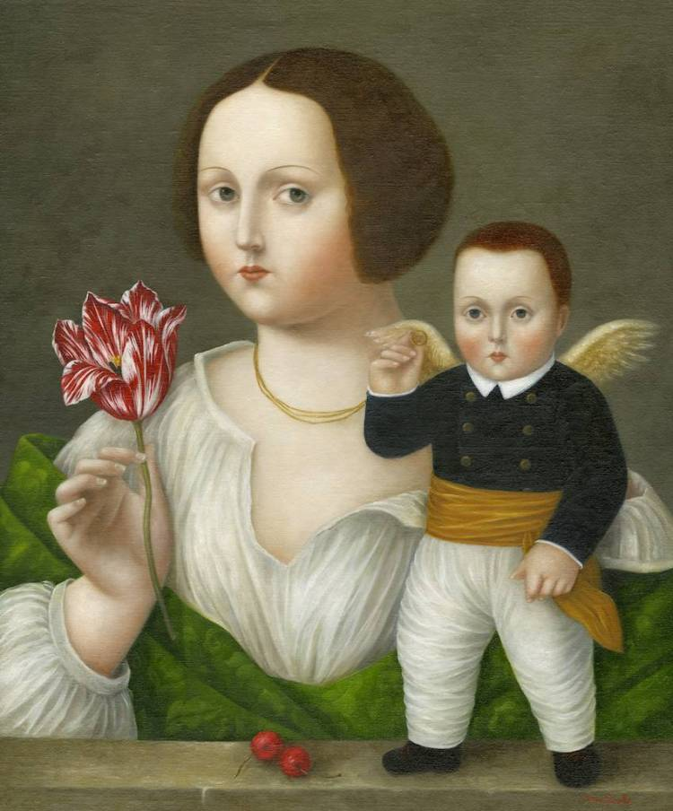 Lady with Tulip and Cupid