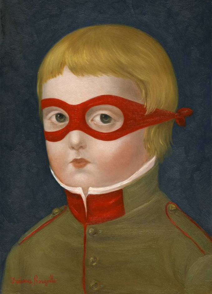 Cadet with Red Mask