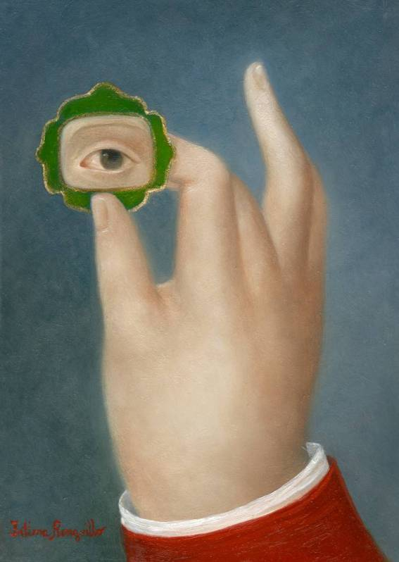 Hand with Lover's Eye in Green Jewel