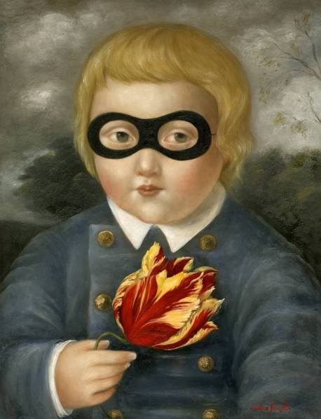 Masked Child with Tulip ●