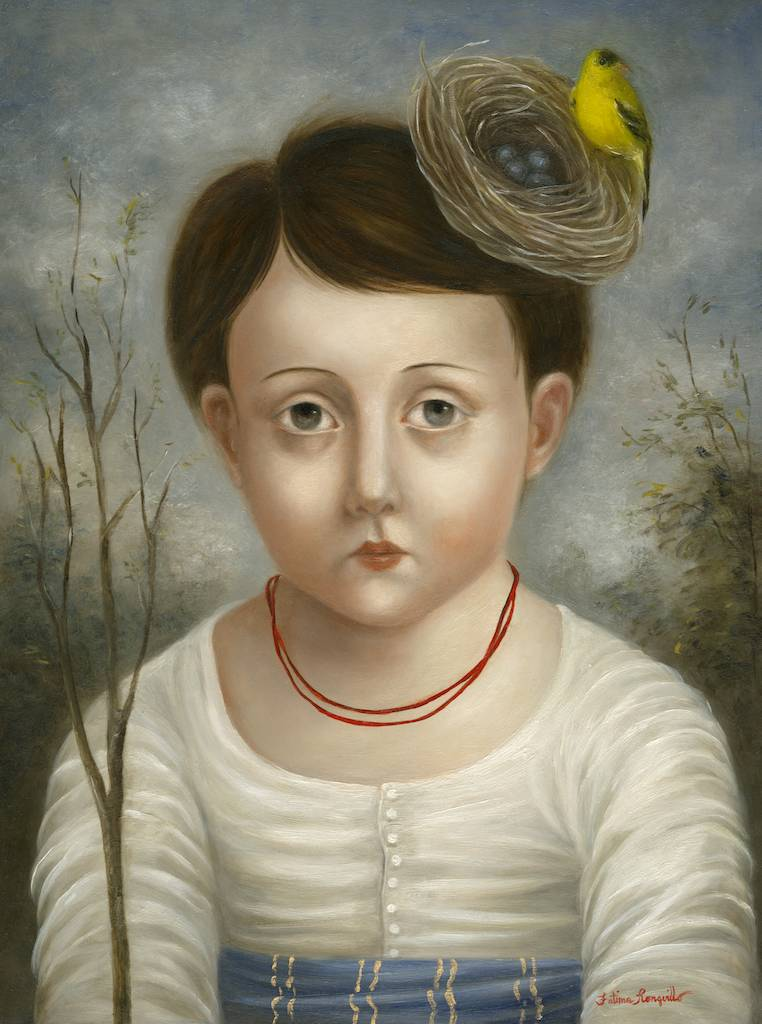 Boy with Finch, Nest and Branch ●