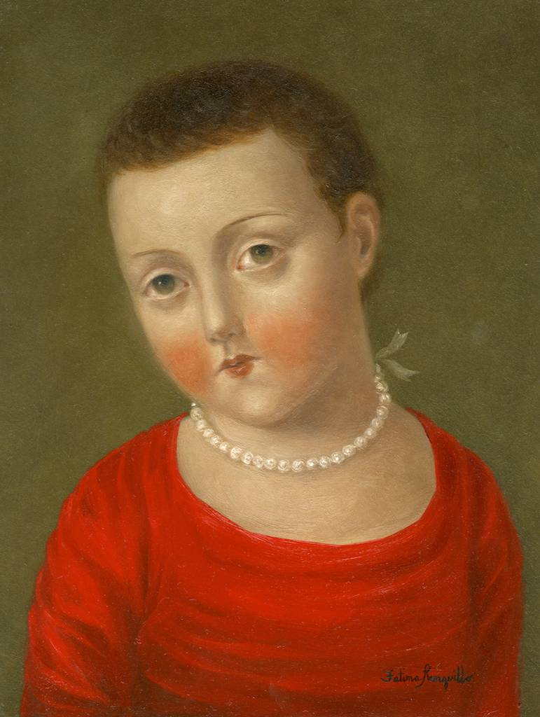 Short-haired Girl with Pearls