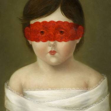 Bound with Red Lace Mask ●