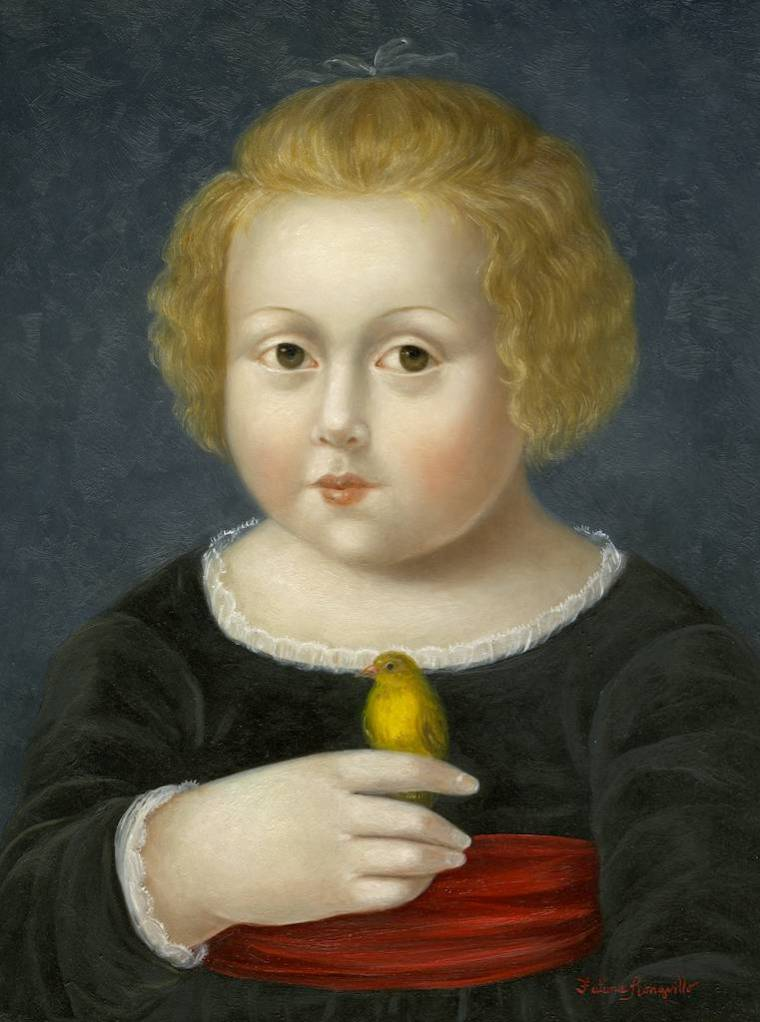 Girl with Yellow Finch