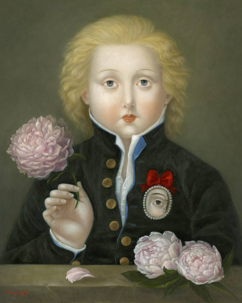 Lover with Peonies