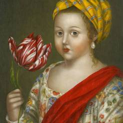 Girl with Prized Tulip ●
