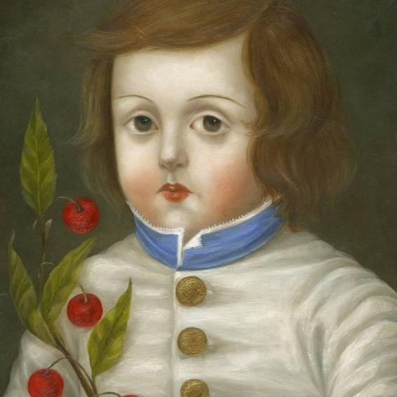 Child with Cherry Branch
