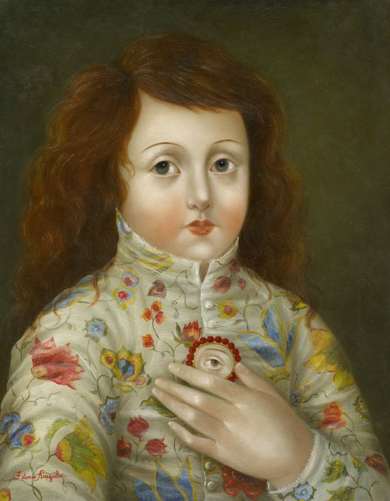 Girl in Floral Jacket with Lover's Eye