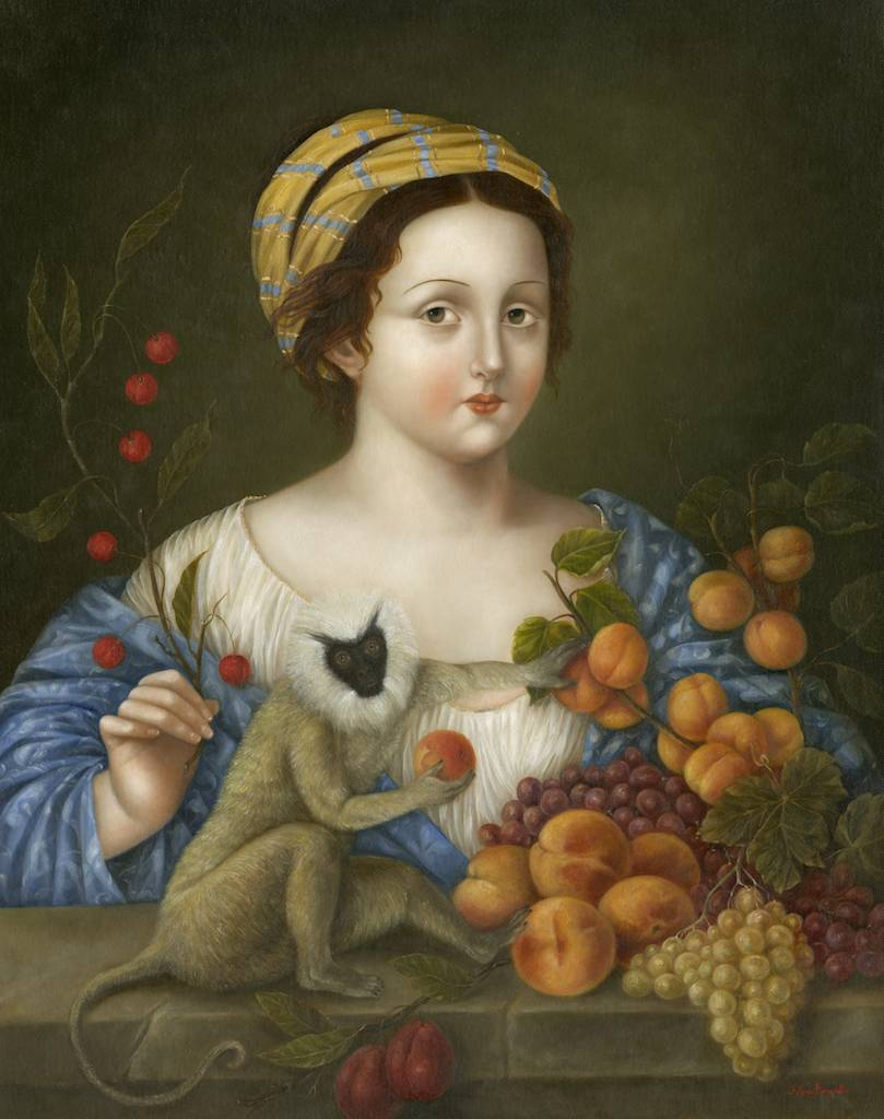 Lady with Langur and Still Life