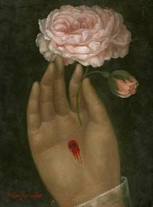 Wounded Hand with Rose