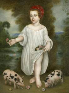 Flora with Piglets