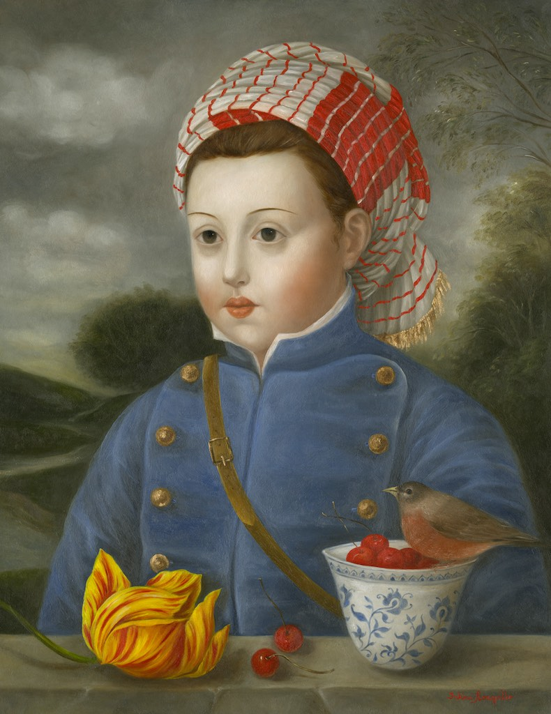 Soldier with Robin, Cherries and Tulip