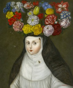 Crowned Nun with Bees