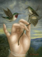 Hand with Hummingbirds