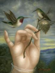 Hand with Hummingbirds