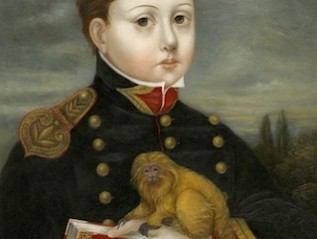 Scholar with Golden Marmoset