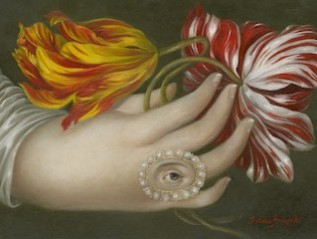 Hand with Lover's Eye and Tulips
