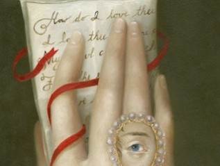 Hand with Elizabeth Barrett Browning's Sonnet 43