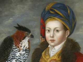 Cupbearer with Ornate Hawk Eagle
