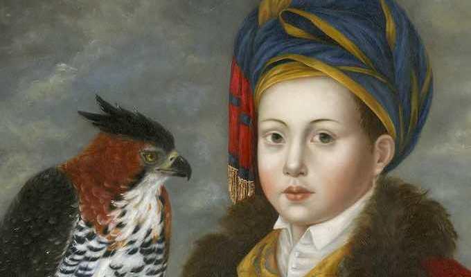 Cupbearer with Ornate HawkEagle