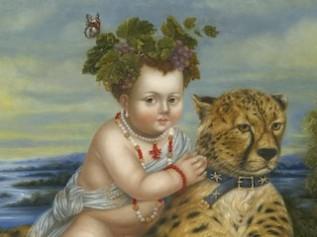 Baby Bacchus Riding aCheetah