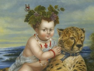 Baby Bacchus Riding a Cheetah
